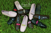 Monogrammed Womens Ribbon Moccasins  www.tinytulip.com