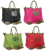 Monogrammed Large Longchamp Style Tote Bag www.tinytulip.com