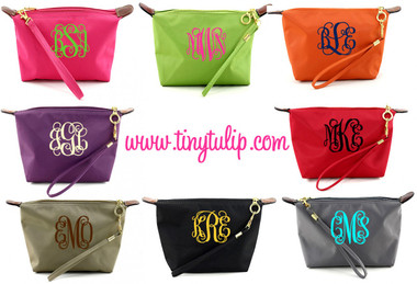 Monogrammed Longchamp Style Wristlet Clutch  www.tinytulip.com
