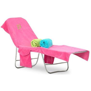 monogrammed terry beach chair cover - Monogrammed Beach Towels