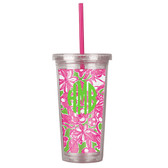 Lilly Pulitzer Acrylic Tumbler with Straw Monogrammed  www.tinytulip.com Coronado Crab