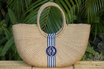 Monogrammed Shoulder Basket Bag  www.tinytulip.com