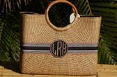 Monogrammed Becky Basket Bag  www.tinytulip.com