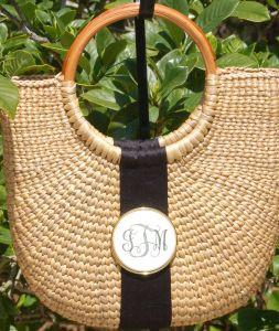 Monogrammed Scrimshaw Basket www.tinytulip.com