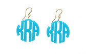 Acrylic Block Monogram Earrings  www.tinytulip.com Turquoise