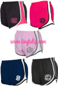Monogrammed Running Athletic Shorts  www.tinytulip.com