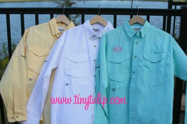 Monogrammed Fishing Shirt Long Sleeve PFG   www.tinytulip.com