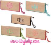 Monogrammed Straw Clutch Wristlet  www.tinytulip.com
