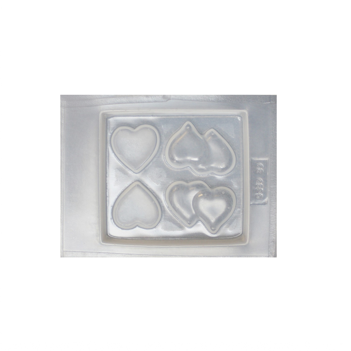 Resin mould - Flat Hearts - Single and Double