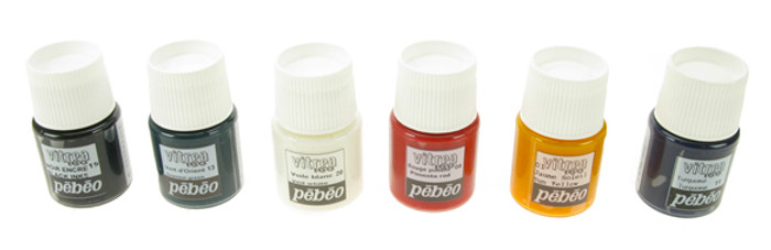 Pebeo Vitrea 160 Discovery Kit, 6 colour set