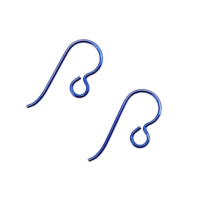 Niobium Earwire With Loop - Navy - 1 Pair