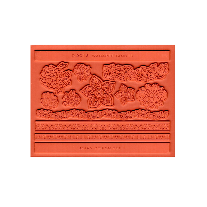 Wanaree Tanner Signature Texture Plate - Henna Bloom (Asian 1)