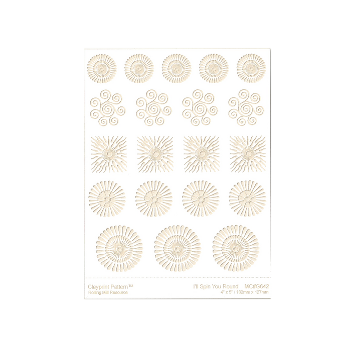 RMR Laser Texture Paper - I'll Spin You Round - 102 x 127mm