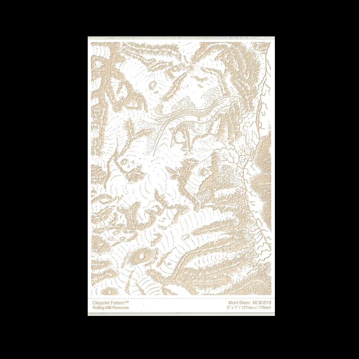 RMR Laser Texture Paper - Mont Blanc - 127 x 178mm