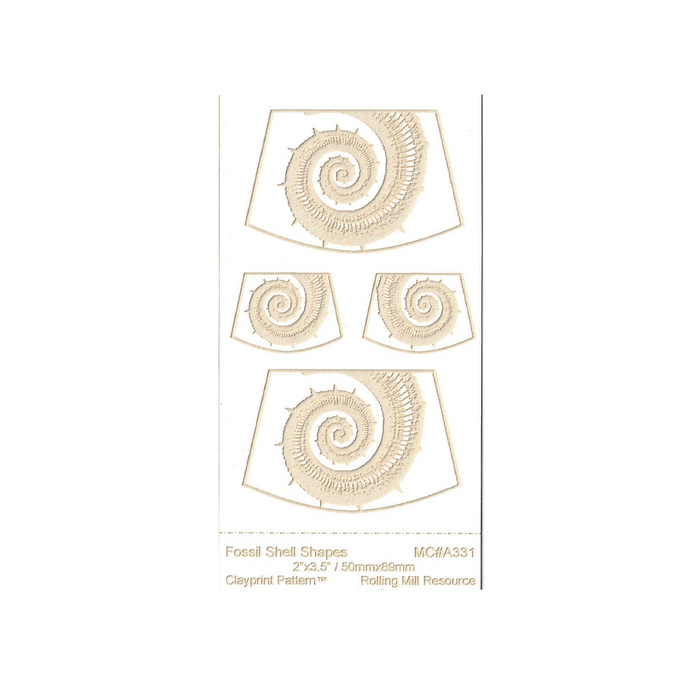 RMR Laser Texture Paper - Fossil Shell Shapes - 50 x 89mm