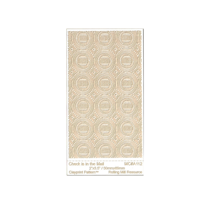 RMR Laser Texture Paper - Check Is In The Mail - 50 x 89mm