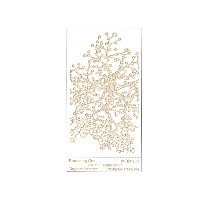 RMR Laser Texture Paper - Branching Out - 50 x 89mm