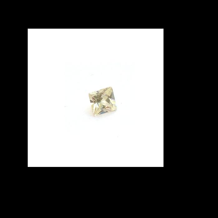 Lab Created Gemstone - Citrine Yellow Square