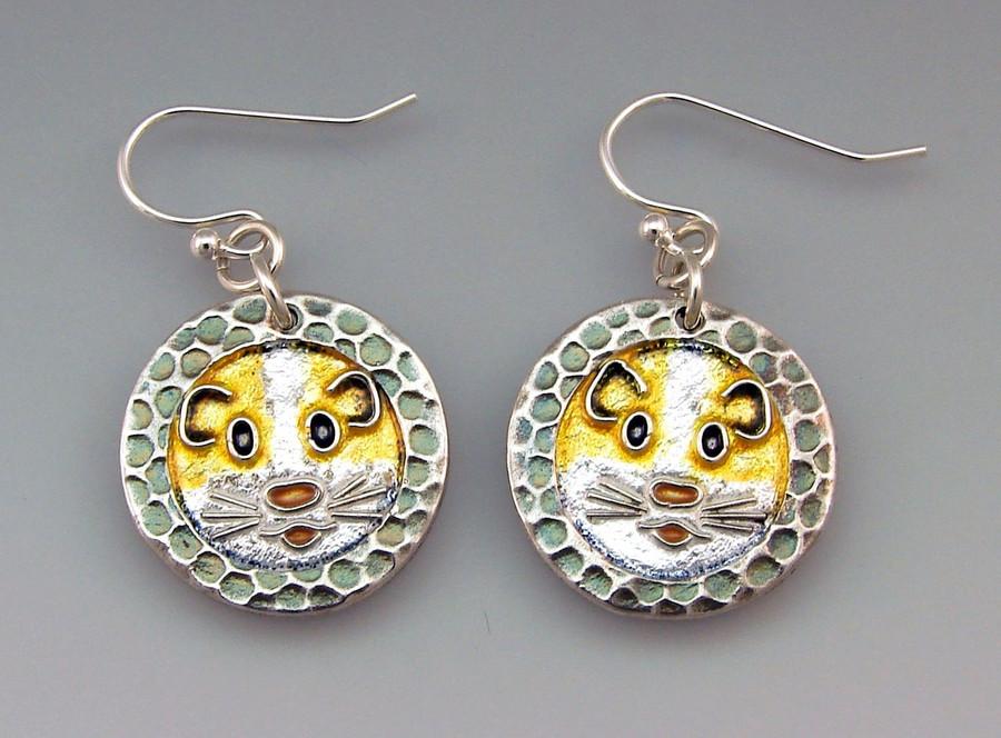 Guinea Pig earrings by Joy Funnell