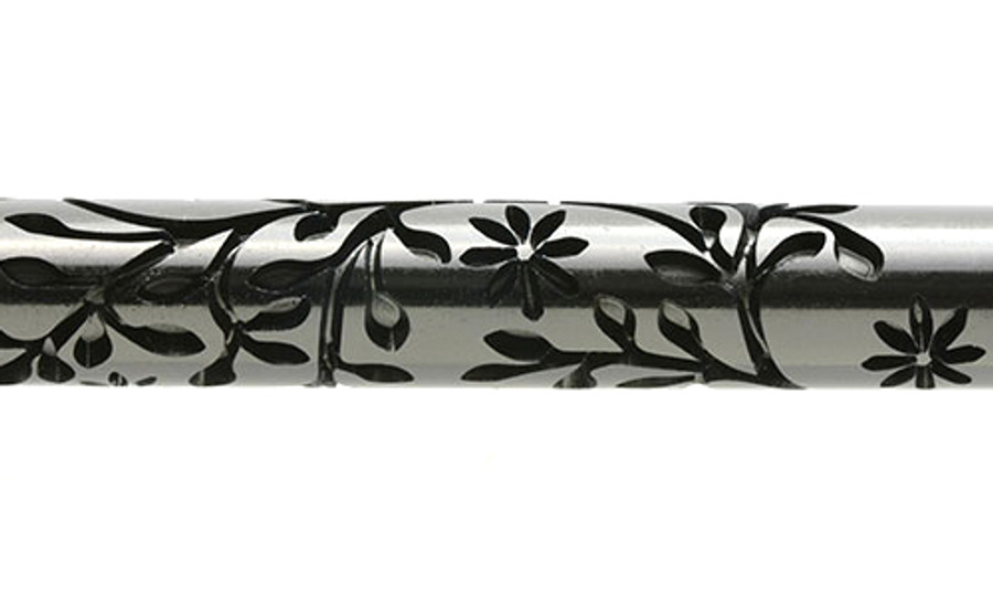 Large Acrylic Texture Roller - Flowering Clematis 7.5cm
