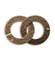 Hammered Ring Clasp Set - 32 x 22mm