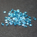 Lab Created Gemstone - Blue Topaz - Square - 5x5mm