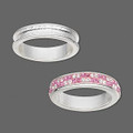 Ring Bezel - Wrap Around - Bright Silver - Large