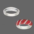 Ring Bezel - Rounded Rectangle - Bright Silver - Large