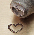 Metal Stamp Lace Heart 6mm