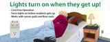 Smart Caregiver Smart Light Outlet w/ 433-EC Monitor w/10x30 Bed Pad