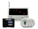 Wireless Multi-Channel Central Monitoring -40 with 3 Nurse Call Buttons and LCD Pager with Reset Button System