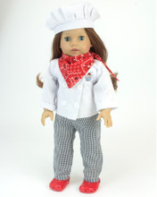 "Baking Chef Doll Outfit Fits 18"" Dolls"
