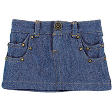 "18"" Doll Denim Studded Mini Skirt Separate"