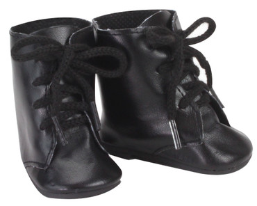 Sophia's Black Lace Up Boots Fit 18 Inch Dolls