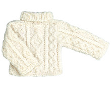 "Irish Cable Knit Doll Sweater Fits 18"" Dolls"
