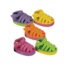 "Foam Doll Sandal With Contrast Color Sole Fits 18 Inch & 15"" Dolls"