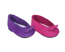Suede Ballerina Flats Fits 18 Inch American Girl Doll Shoes