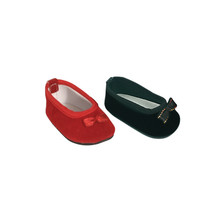 Velvet Slip-On Shoes Fits 18 Inch American Girl Doll Shoes