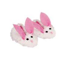 Sherpa Bunny Doll Slipper With Pink Ears Fits 18 Inch American Girl Doll Shoes