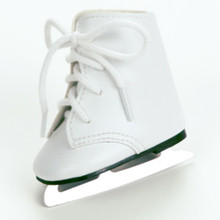 White Ice Skates Fits 18 Inch American Girl Doll Shoes SPECIAL SALE!