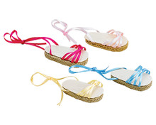 Ribbon Espadrilles Fit 18 Inch Dolls  FINAL CLEARANCE