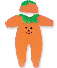 Pumpkin Baby Doll Costume Fits 15 Inch Bitty Baby American Doll