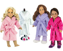 "Soft Fleece Robe Fits 18"" American Girl Dolls"
