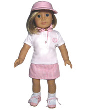 "Golf Polo & Pink Print Skort Fits 18"" American Girl Dolls"