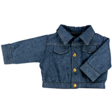 "Denim Jean Jacket Fits 18"" American Girl Dolls"