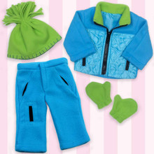 "Blue & Lime Polar Fleece Set Fits 18"" Dolls"