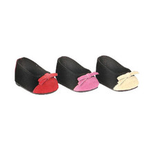 Two-Tone Ballerina Doll Flats Fits 18 Inch American Girl Doll Shoes
