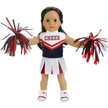 "Red & Navy Cheerleader Outfit Fits 18"" Dolls"