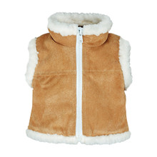Sophia's Tan Suede Vest Fits 18 Inch Dolls