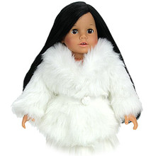"Ivory Fur Coat Fits 18"" American Girl Dolls"